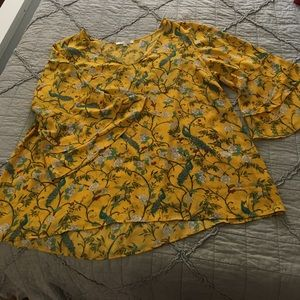 Rose & Olive Yellow Blouse